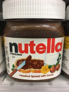 Government Tracking Nutella Consumption